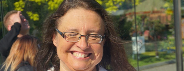 Uśmiechnięta Anna Mękarska, prezes Fundacji Dodo
