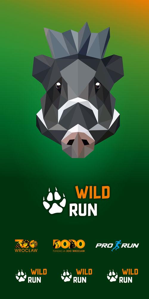 Projekt graficzny chusty Wild Run ze świnią wisajską