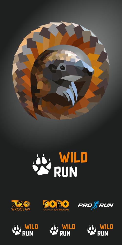 Projekt graficzny chusty Wild Run z pangolinem
