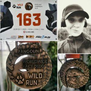 Biegaczka w Wild Run 2020 - Izabela z Warszawy. fot. Izabela Kurz
