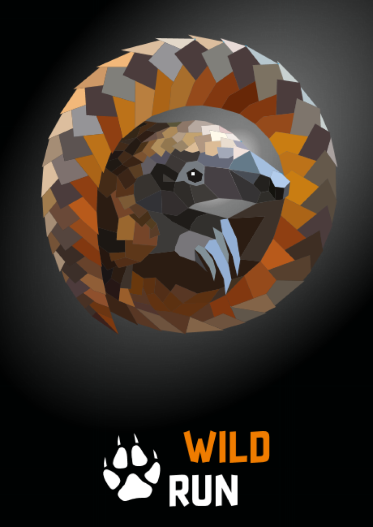 Pangolin - grafika Wild Run 2020