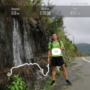 Biegacz w Wild Run 2020 z Wietnamu